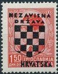 Croatia 1941 Peter II of Yugoslavia Overprinted in Black d