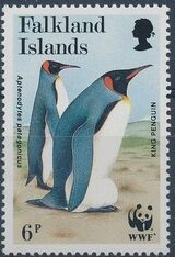 Falkland Islands 1991 WWF - King Penguin b