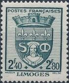 France 1942 Coat of Arms (Semi-Postal Stamps) h