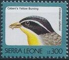 Sierra Leone 1992 Birds p