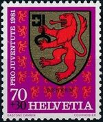 Switzerland 1981 PRO JUVENTUTE - Municipal Coat of Arms c