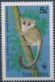 Tanzania 1989 WWF Zanzibar Galago a