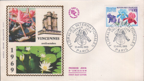 France 1969 3rd International. Flower Show in Paris FDCc