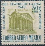 Mexico 1945 Reconstruction of the Teatro de la Paz (Airmail) a