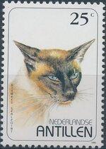 Netherlands Antilles 1995 Domestic Cats a