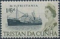 Tristan da Cunha 1965 Queen Elizabeth II and Ships ha