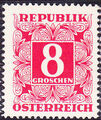 Austria 1951 Postage Due Stamps - Square frame with digit (3rd Group) b.jpg
