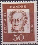 Germany, Federal Republic 1961 Famous Germans j