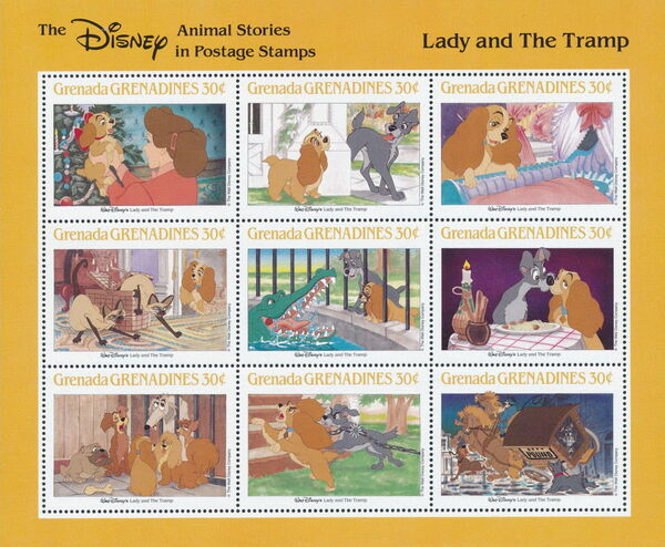 Grenada Grenadines 1988 The Disney Animal Stories in Postage Stamps SSe