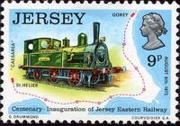 Jersey 1973 Centenary of Jersey Eastern Railway d