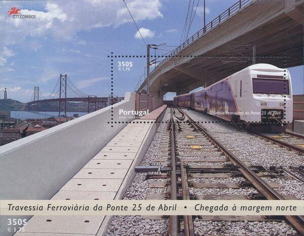 Portugal 1999 Inauguration of Rail Link Over 25th of April Bridge j