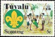 Tuvalu 1977 Scouting in Tuvalu 50th Anniversary a