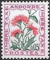 Andorra-French 1965 Flowers - 2nd Group (Postage Due Stamps) a.jpg