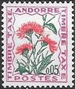 Andorra-French 1965 Flowers - 2nd Group (Postage Due Stamps) a