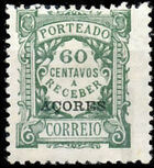 Azores 1922 Postage Due Stamps of Portugal Overprinted (1st Group) e