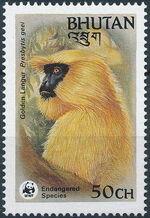 Bhutan 1984 WWF - Golden Langur a