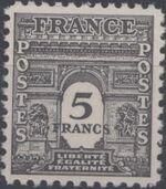France 1944 Arc of the Triomphe - Allied Military Government i
