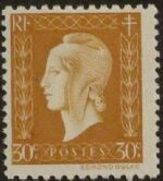 France 1945 Marianne de Dulac (2nd Issue) b