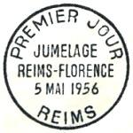 France 1956 Kinship of Reims and Florence PMa