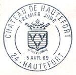 France 1969 Tourism - Hautefort Chateau PMa