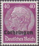 German Occupation-Lothringen 1940 Stamps of Germany (1933-1936) Overprinted in Black l