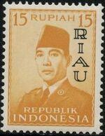 Indonesia-Riau 1960 President Sukarno - Definitives f