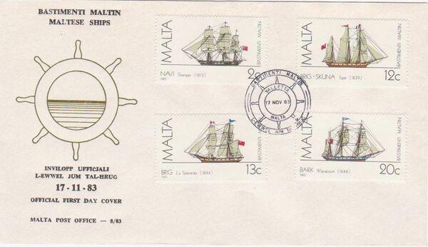 Malta 1983 Maltese Ships (2nd Series) FDCa