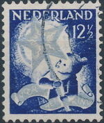 Netherlands 1933 Child Welfare Societies Surtax - Child Carrying the Star of Hope d