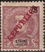 St Thomas and Prince 1911 D. Carlos I Overprinted h