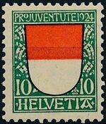 Switzerland 1924 PRO JUVENTUTE - Coat of Arms b