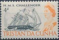 Tristan da Cunha 1967 Queen Elizabeth II and Ships a