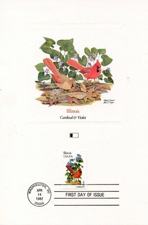 United States of America 1982 State birds and flowers FOLb4