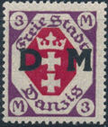 """Danzig 1921 Issues from 1921-1922 Overprinted """"D M"""" n"""