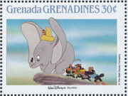 Grenada Grenadines 1988 The Disney Animal Stories in Postage Stamps 4f