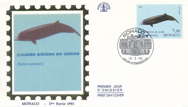 Monaco 1993 Musée Océanographique - Cétacés de la Méditerranée (2nd Group) l