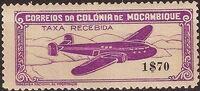Mozambique 1946 Airplane over Mountainous Region c