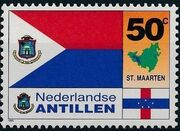 Netherlands Antilles 1995 Flags and Coats of Arms of Island Territories c