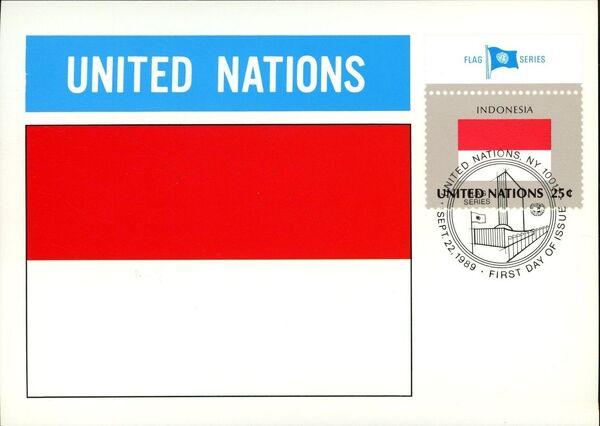 United Nations-New York 1989 Flag Series MCa