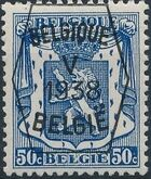 Belgium 1938 Coat of Arms - Precancel (5th Group) f