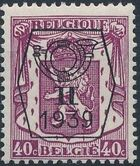 Belgium 1939 Coat of Arms - Precancel (2nd Group) e