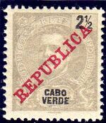 Cape Verde 1911 D. Carlos I Overprinted a