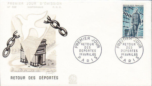 France 1965 20th Anniversary of the Return of Deportees FDCb