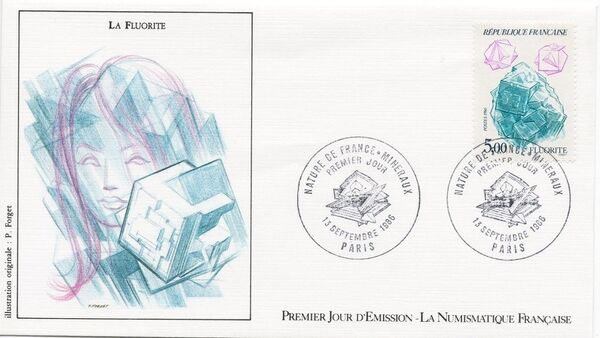 France 1986 Minerals FDCh