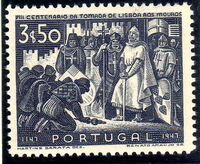 Portugal 1947 800th Anniversary of the recapture of Lisboa from the Moor f
