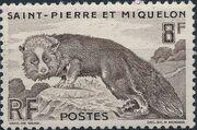 St Pierre et Miquelon 1952 Silver Fox (Definitives) a