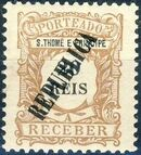 St Thomas and Prince 1913 Postage Due Stamps - 1st Overprint c