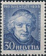 Switzerland 1933 PRO JUVENTUTE - Fr. Gregorie Girard d