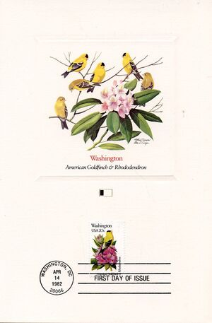 United States of America 1982 State birds and flowers FOLf2