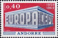 Andorra-French 1969 Europa a