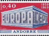 Andorra-French 1969 Europa